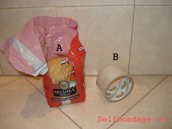 Пакет риса и скотч самосвязывание
