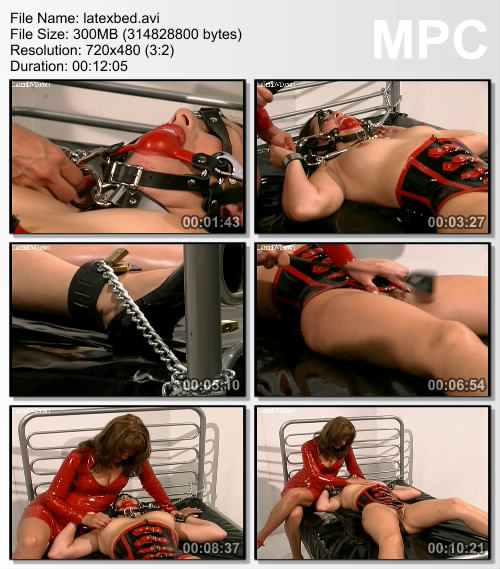 Девушка в латексе на кровати видео фото 549-349